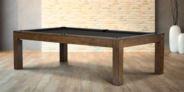 Legacy Bayler pool table is ideal as a pool table dining table