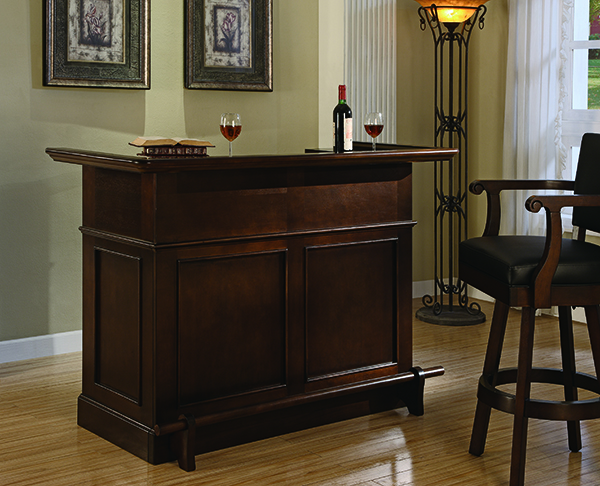 Classic bar with bar stool from the Legacy line of game room furniture.