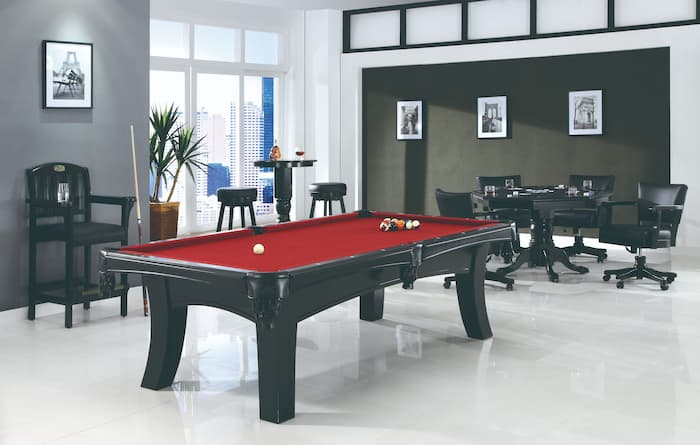 The Ella is a good example of pool table you can convert into a dining table because of the frame and legs