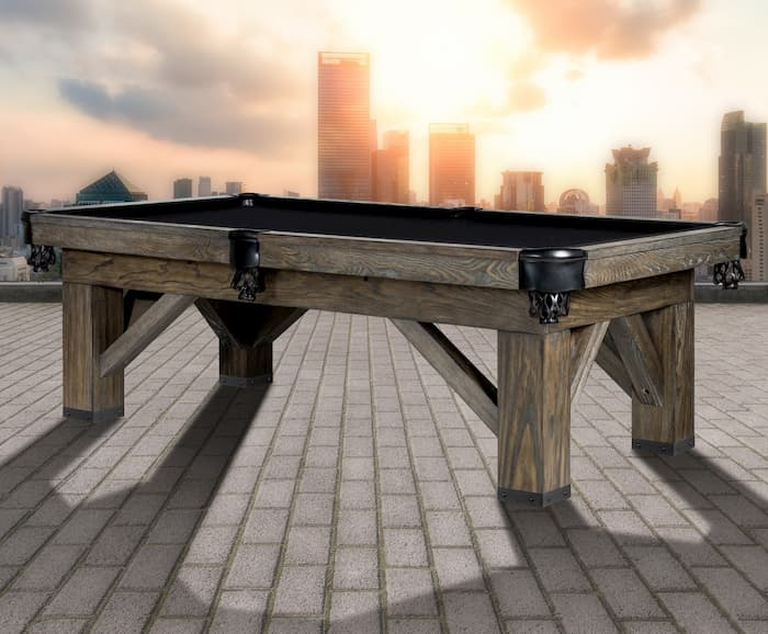 best billiard table slate is represented by the Harpeth pool table by Legacy
