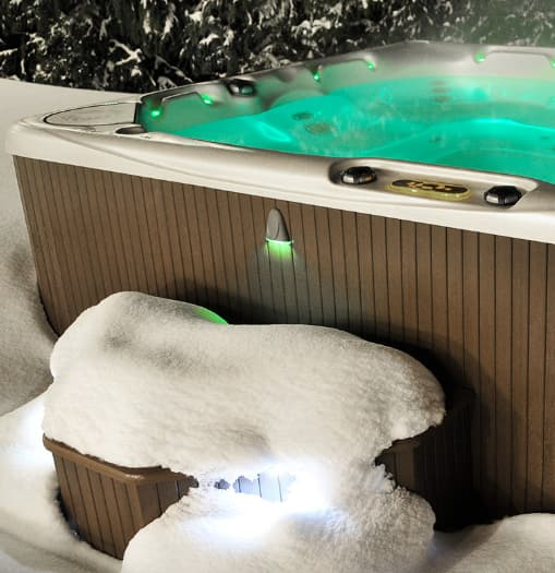 LED lights as one of your hot tub accessories
