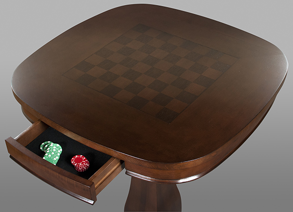 Close up of a pub table that is ideal for a games table for many types of games.