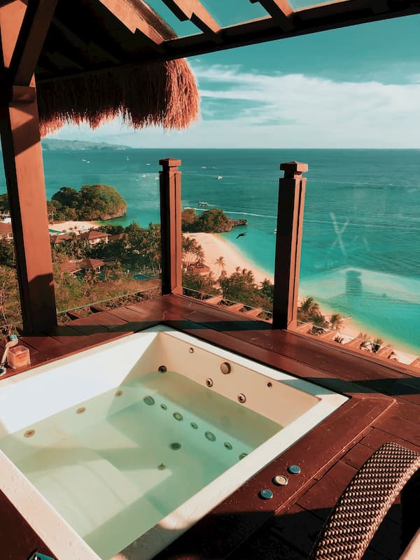 Purchase. a hot tub to compliment the view from scenic property