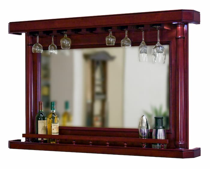 Set up your home bar with a back bar