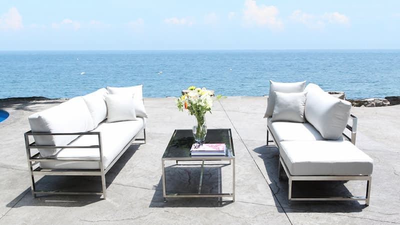 Stainless steel outdoor patio furniture is known for its strength and longevity