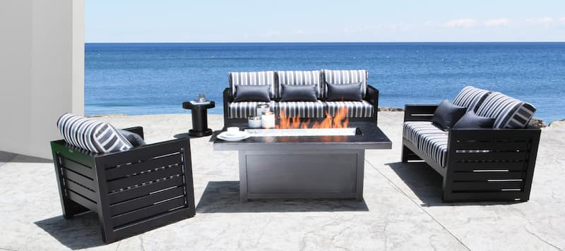 Cast aluminum is considered one of the best outdoor furniture for lasting through the Canadian climate