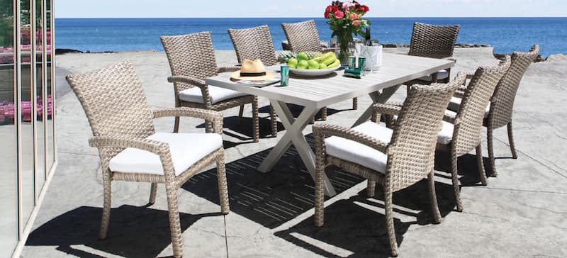 Cabana Coast wicker patio furniture is a proven weather resistant material