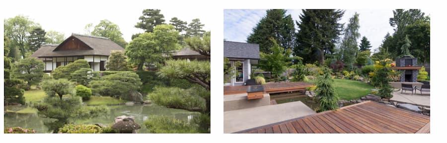 Comparing the shingle to the overall backyard aesthetics