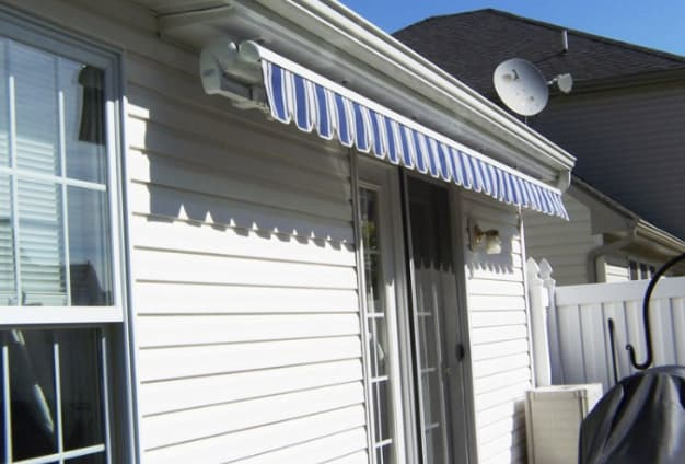 awning attached to soffit