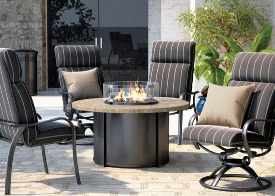 Homecrest fire table is one of the outdoor patio ideas