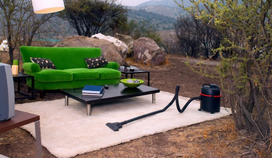 indoor living room moved outside