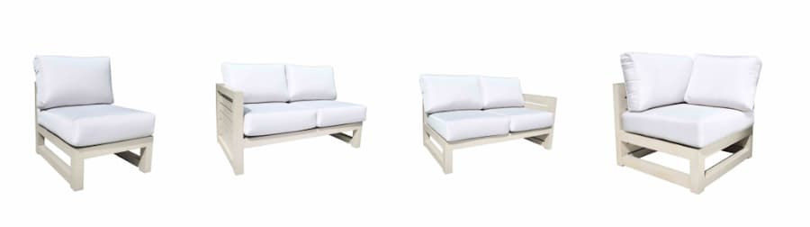 Lakeview by Cabana Coast sectional couch modules