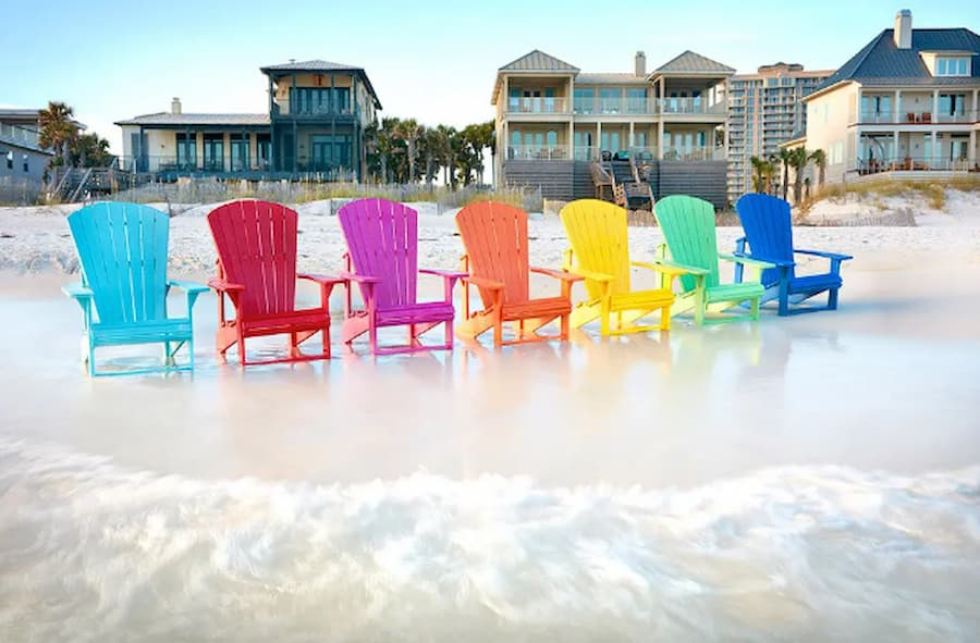 Adirondack chairs are considered recycled plastic patio furniture