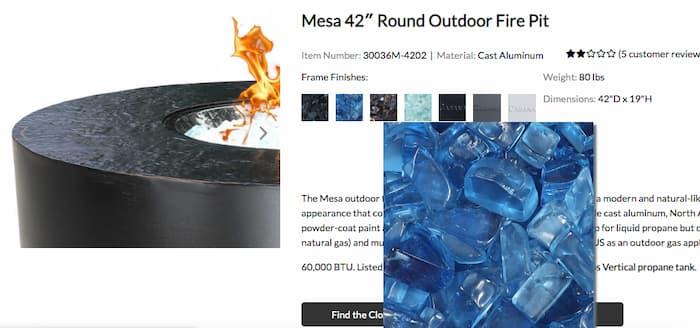 Mesa round outdoor fire pit