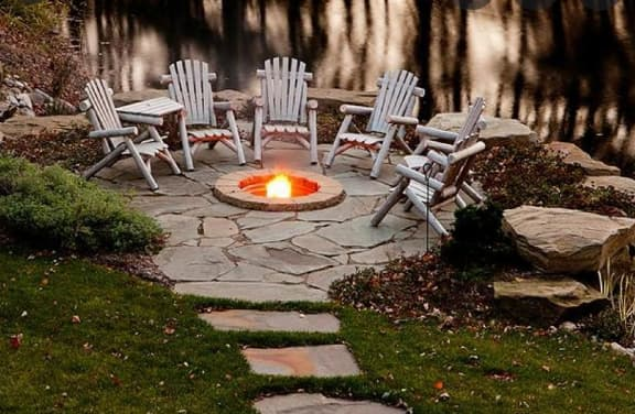 Firepit as a focal point