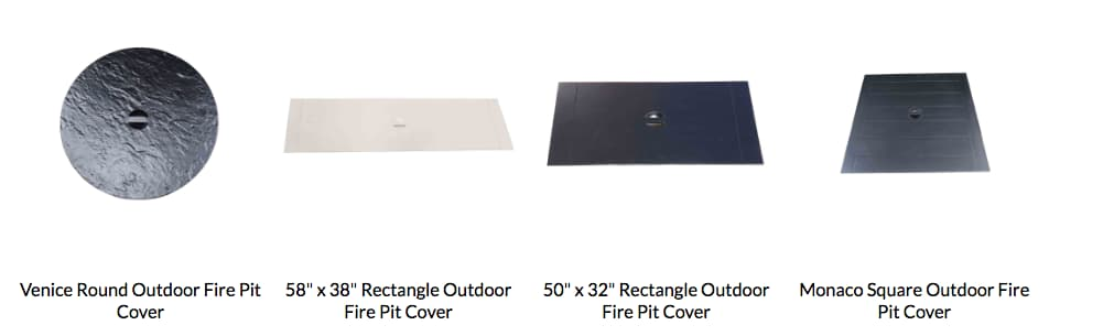 Cabana coast fire table covers