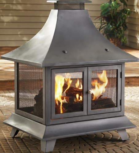 A pagoda as a wood burning option for fire pits