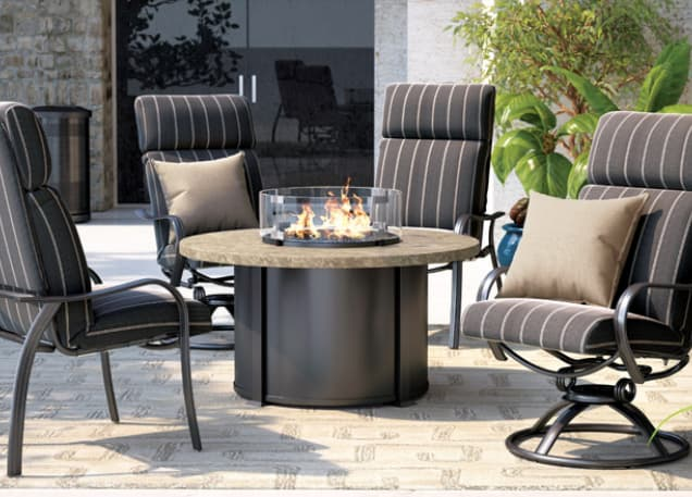 An example of a sandstone fire pit table