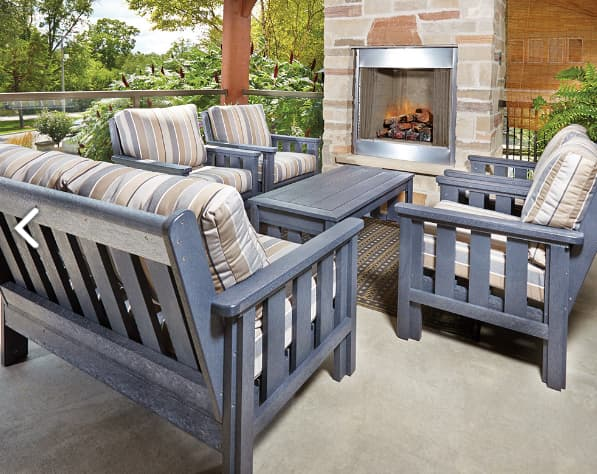 recycled plastic patio furniture the full conversation set