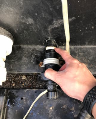beachcomber drain valve to use before hot tub removal