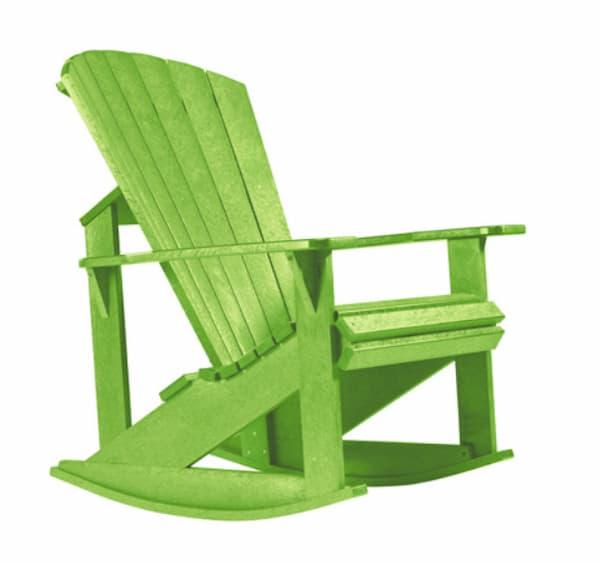 Green Adirondack rocking chair